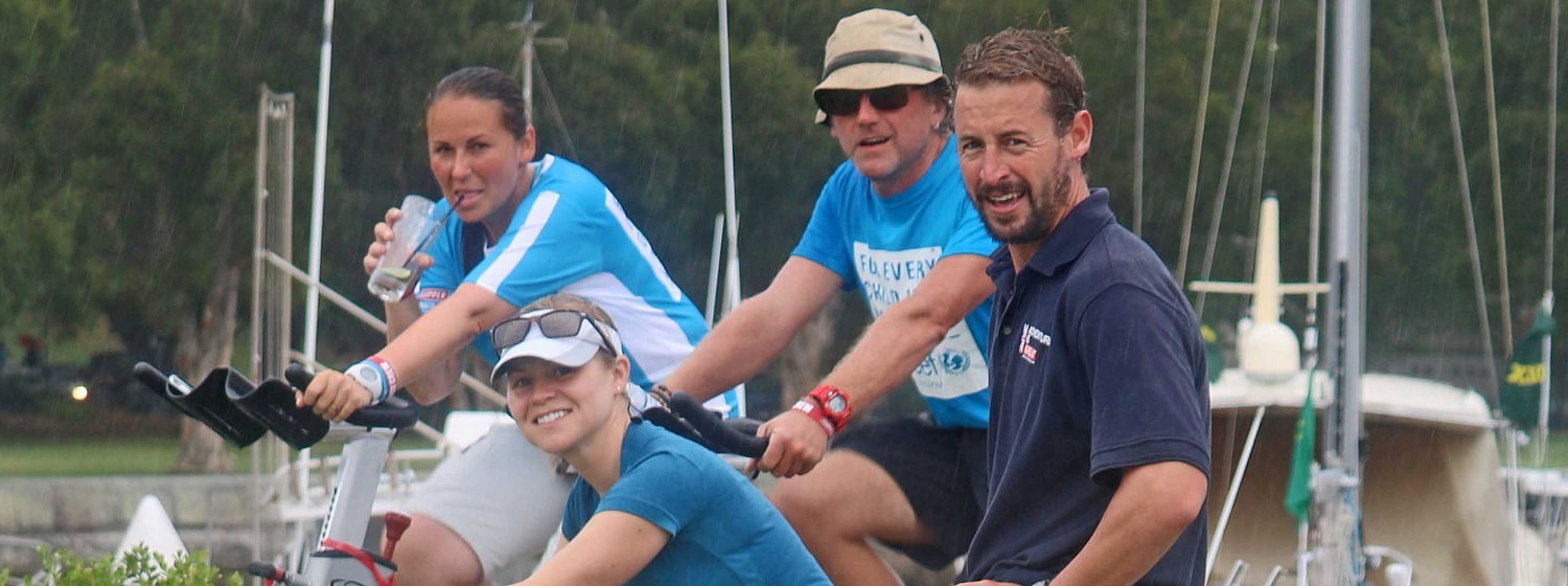Unicef team finish mission to cycle length of Sydney Hobart Race