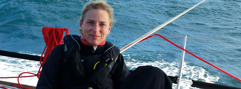 Zuzana Vybiralova sailing