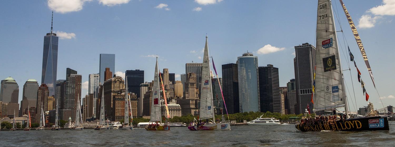Clipper Race fleet in New York