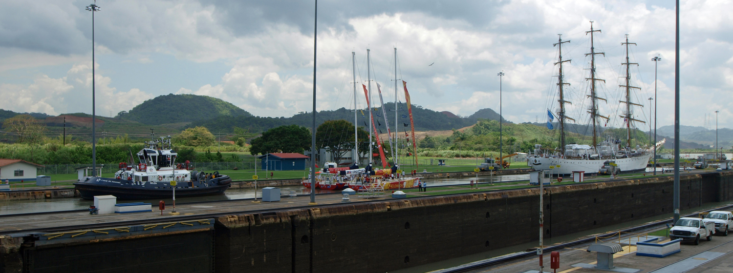 Clipper 70s passing through the Panama Canal