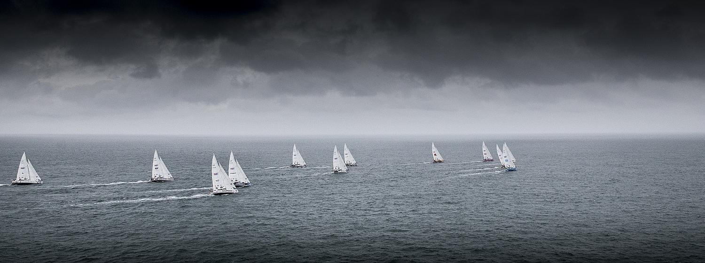 Clipper 2017-18 Race Fleet. Copyright Clipper Race / OnEdition / Matt Dickens