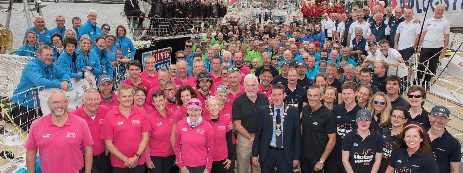All Clipper Race crew pictured dockside in Derry