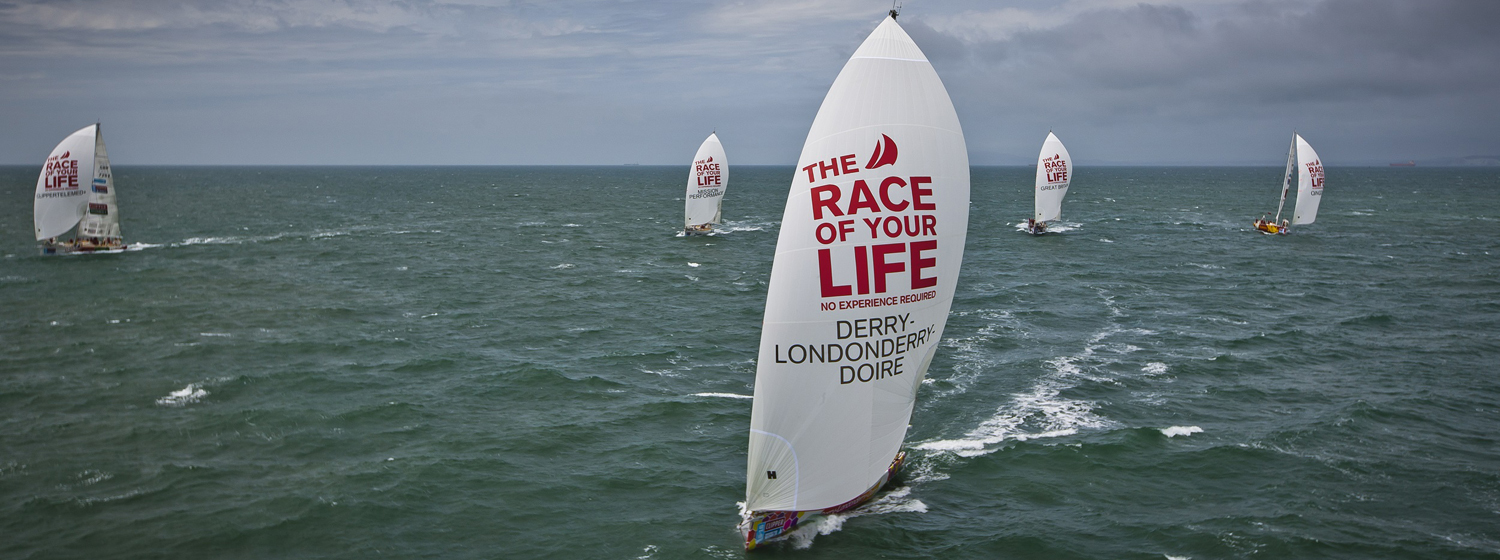Clipper Race fleet.