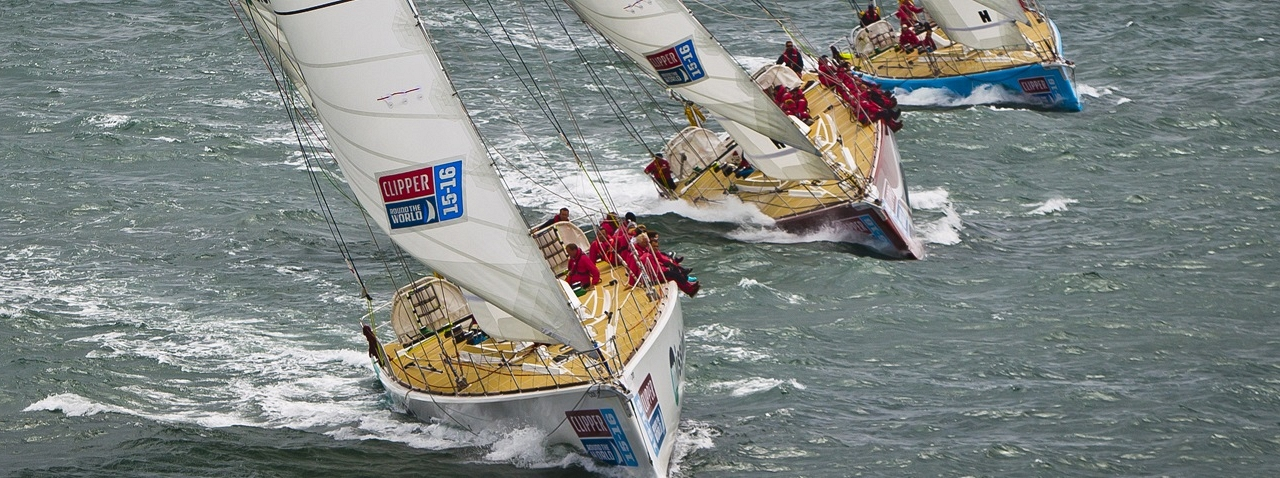 Clipper Race fleet in action