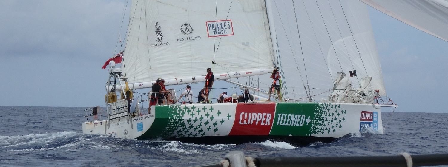 ClipperTelemed+ shown racing during the LMAC Exchange Race of THE AMERICAS