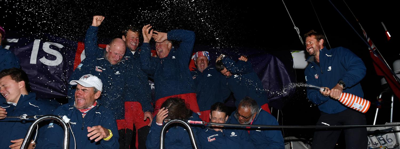GREAT Britain crew celebrate arriving in Sydney