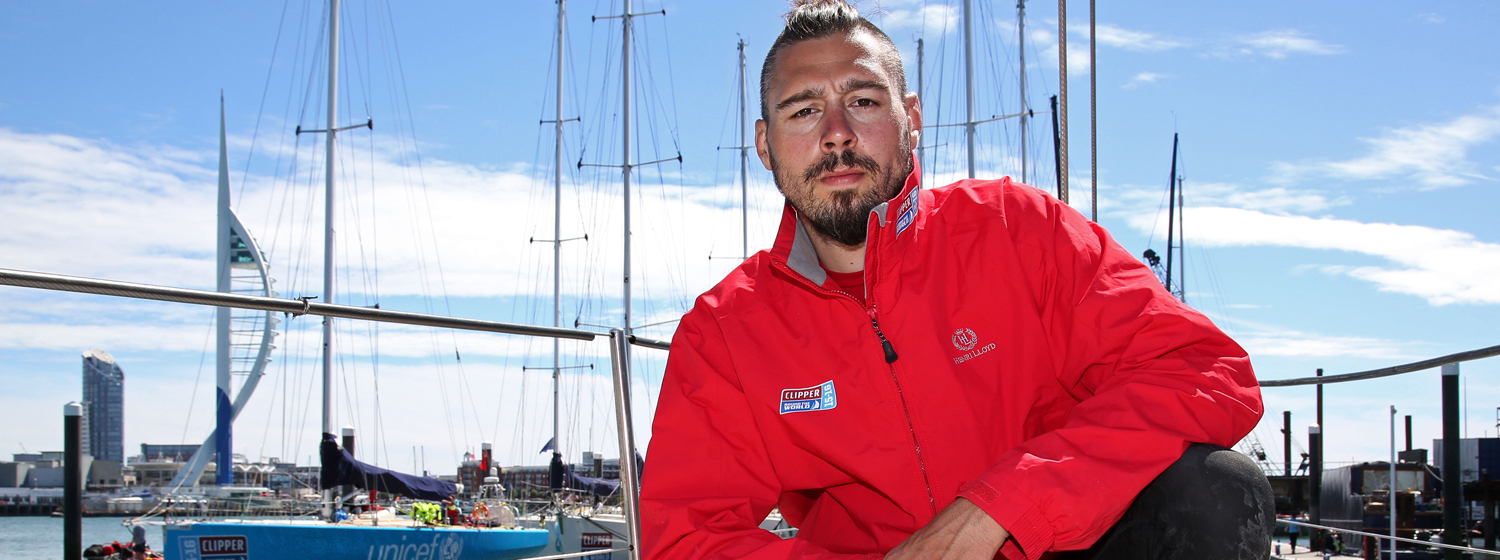 Former Ultimate Fighting Championship athlete and Clipper 2015-16 Race crew member Dan Hardy