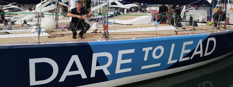 Skipper Dale Smyth on board new Team Partner, Dare To Lead
