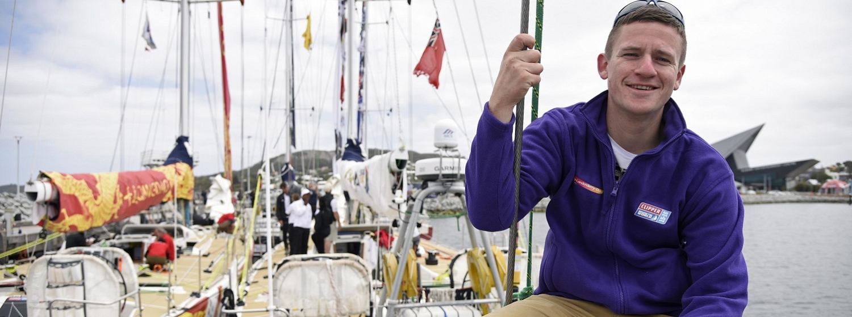 David Pollock before setting sail from Albany