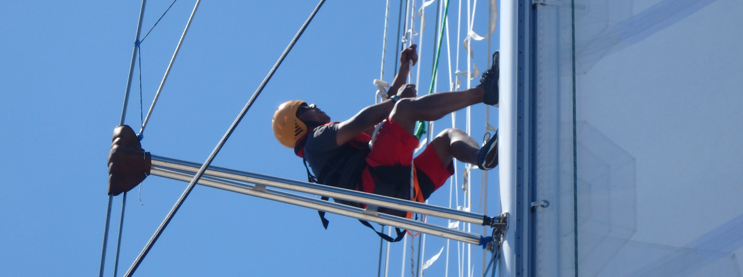 Dhruv on board GREAT Britain during the Clipper Race