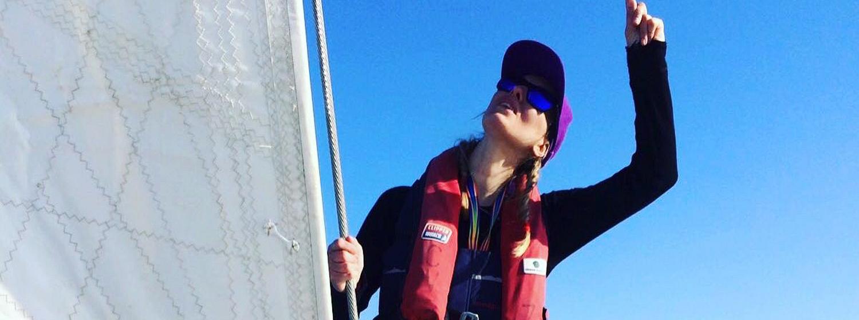 Emily Dixon during Clipper Race training