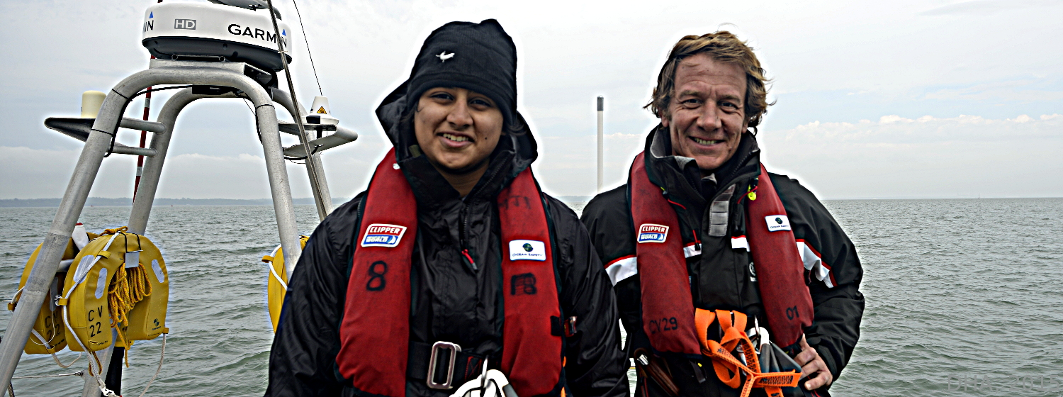 Esha has completed Level 4 training with her Skipper Olivier Thomas ahead of her round the world adventure