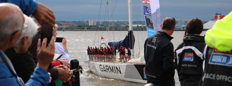 Clipper Race fleet arrives into Albert Dock, Liverpool