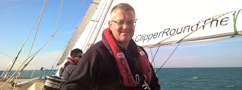 Gareth Osborn on board Clipper Race Training