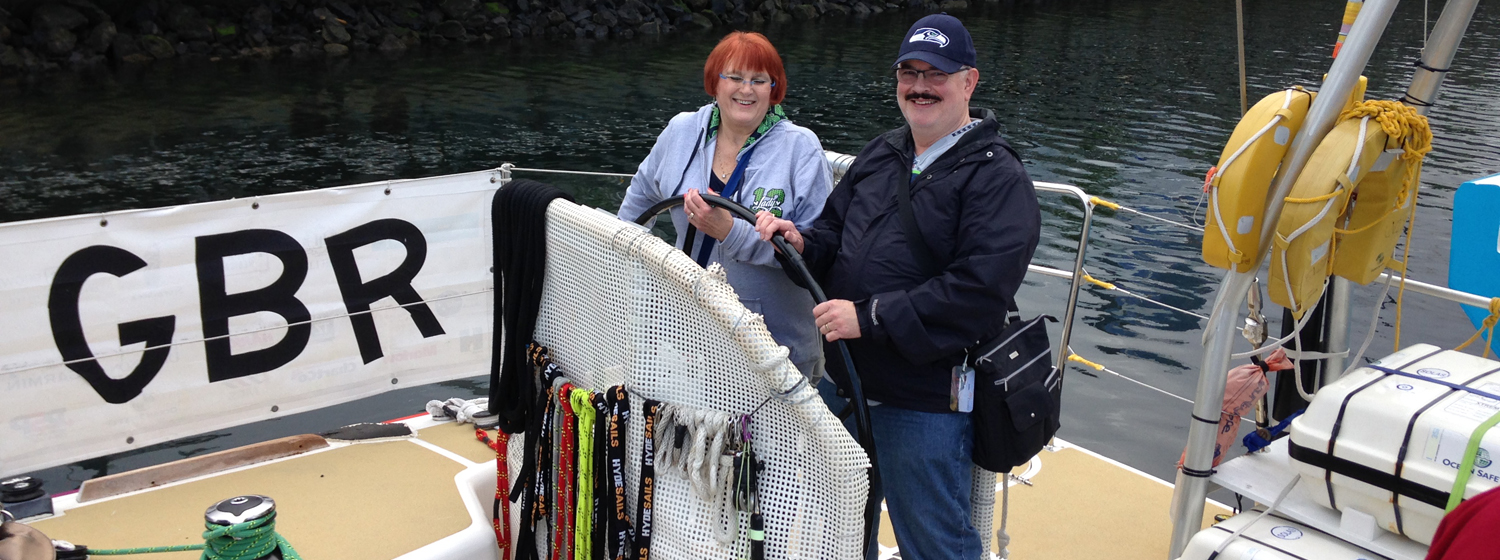 Local Seattleites visit the Clipper Race fleet in the city