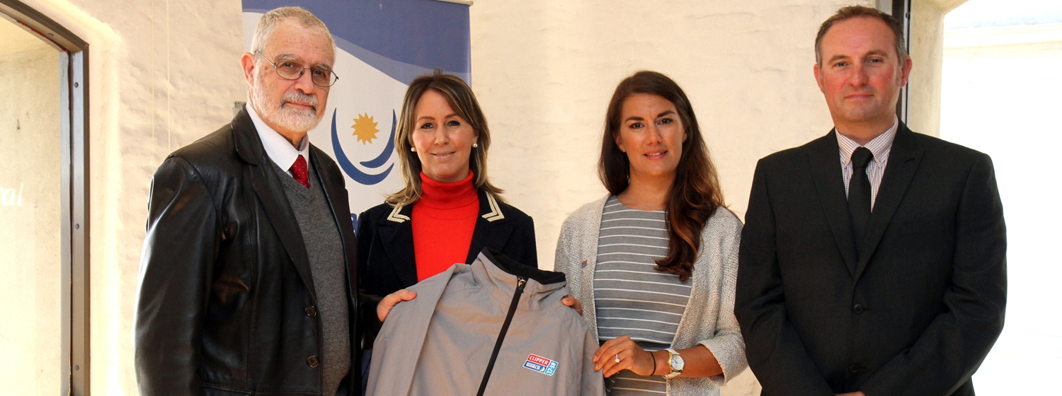 Representatives from Yacht Club Punta del Este with Laura Cowlishaw and Mark Light