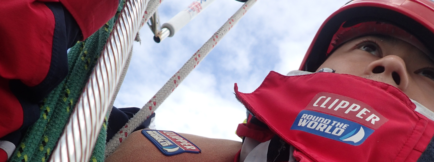 Jason Chan in his Clipper Race wet weather kit