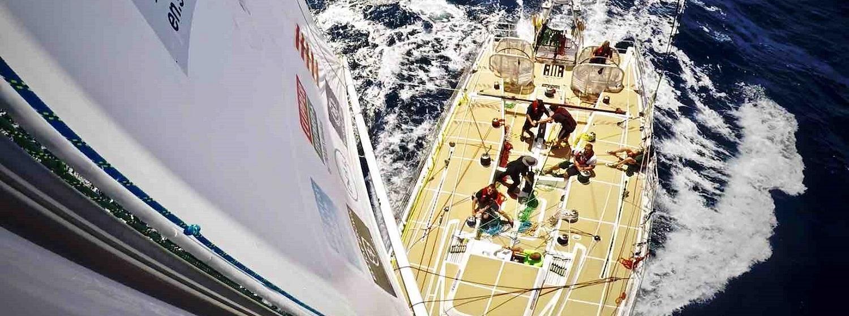 On top of the mast on Sanya Serenity Coast