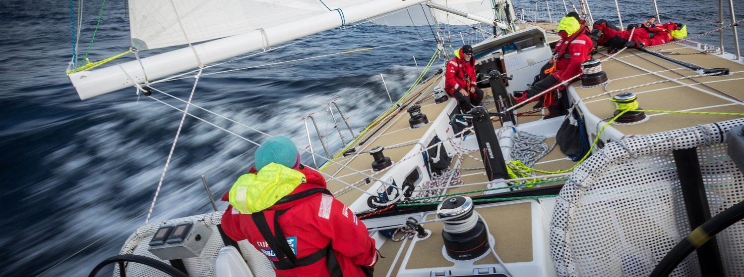 Crew sail across the Southern Ocean in Leg 3 of the Clipper 2013-14 Race