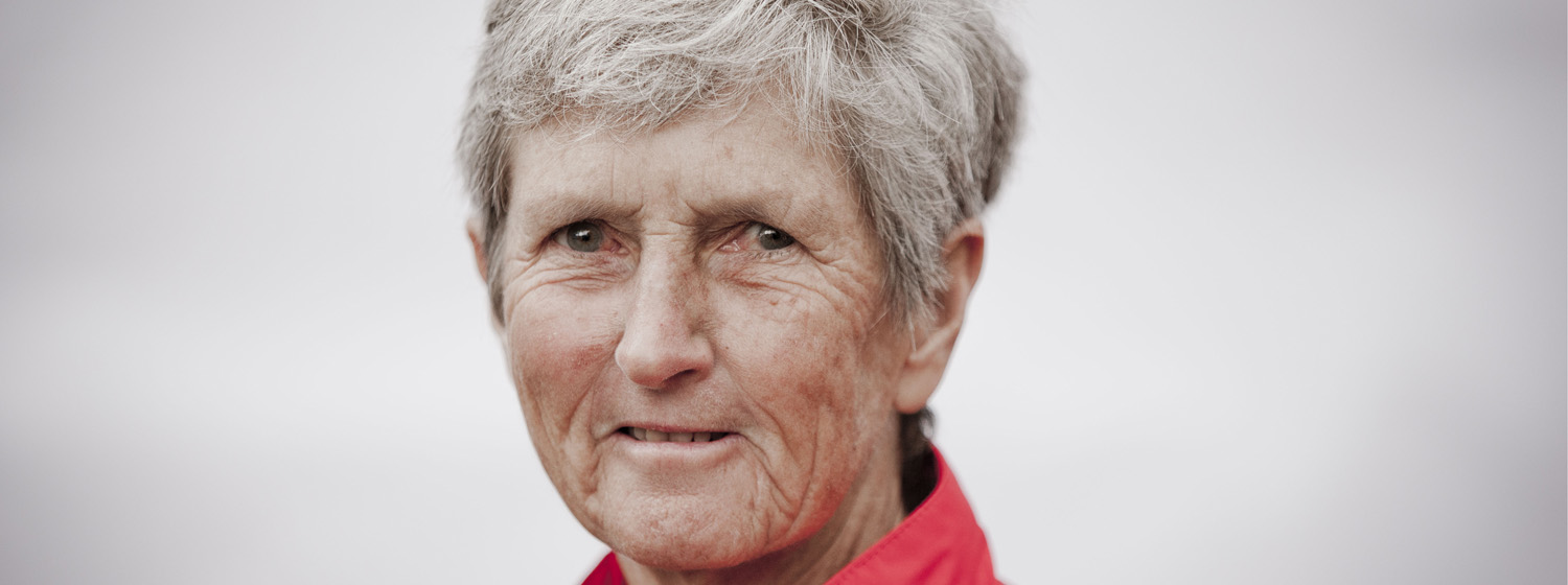 Linda McDavitt, from Austin, Texas, USA, is the oldest female round the world crew member in this year's race