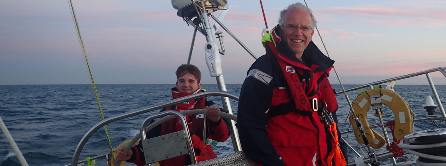 Richard and Mike pictured on board together during training