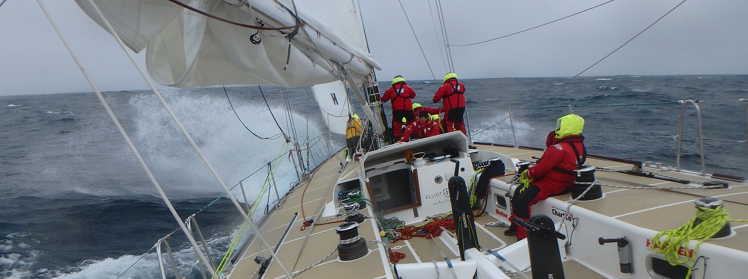 Race 3 Day 12: Front moves over fleet bringing more exhilarating conditions