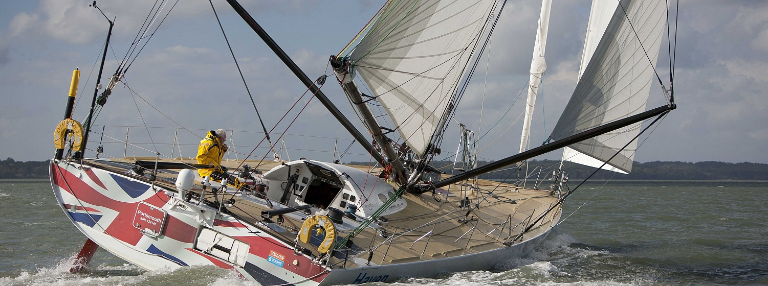 Sir Robin Knox-Johnston speeds up as he enters Bay of Biscay