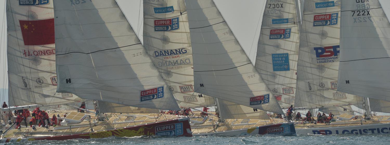 Clipper Race fleet le mans start