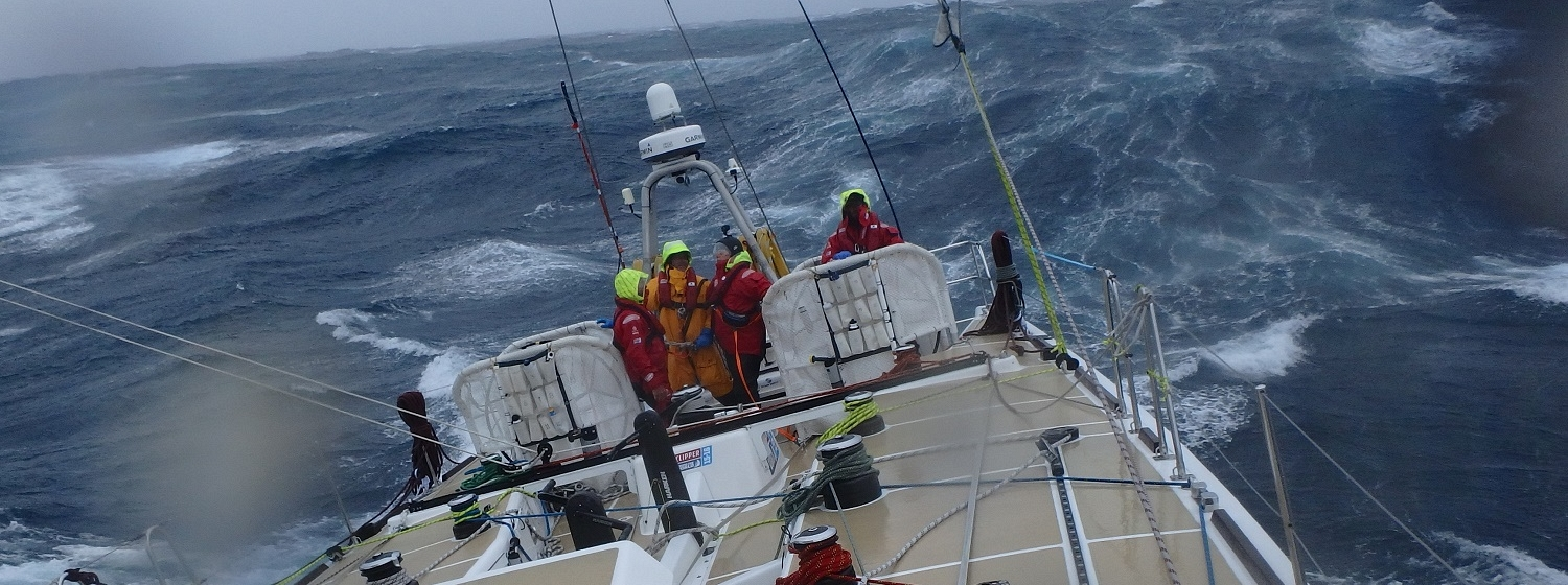 Stormy condtions in Southern Ocean