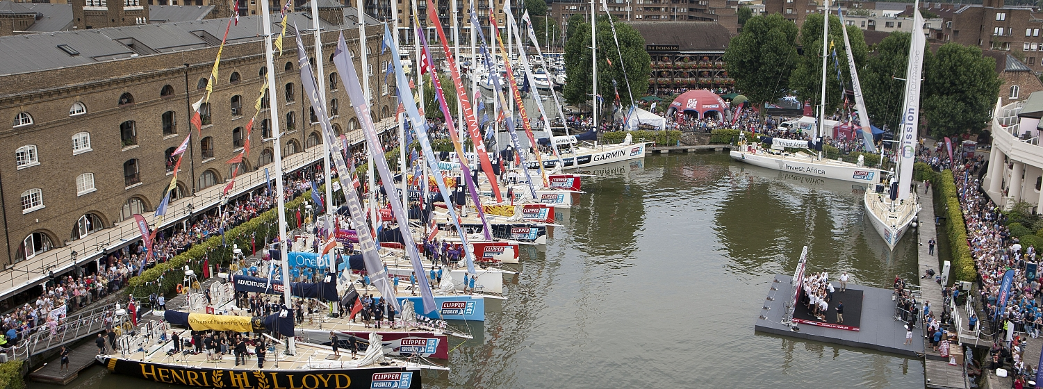 Daily boat tours & live entertainment are on offer at the Clipper 2015-16 Race Start Village in St Katharine Docks, London