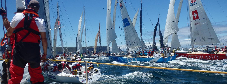 Racing on board a Clipper Race Yacht