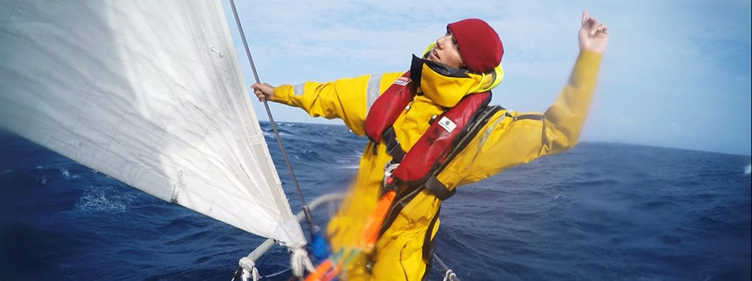 Ruth on board the Clipper 2015-16 Race