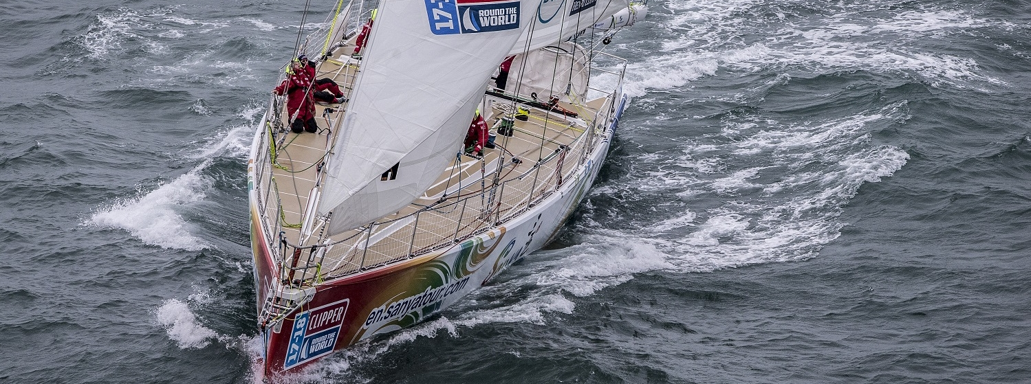 Clipper 2017-18 Race Yacht, Sanya Serenity Coast, in second place