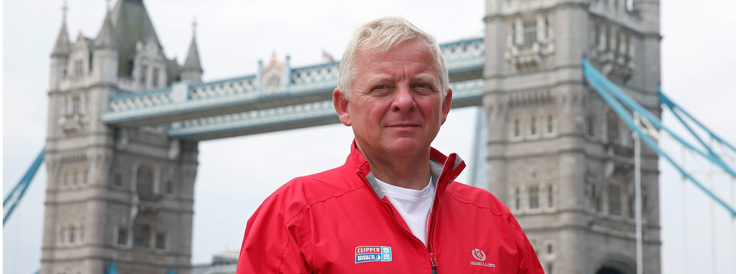 Stephen O'Connor infront of Tower Bridge