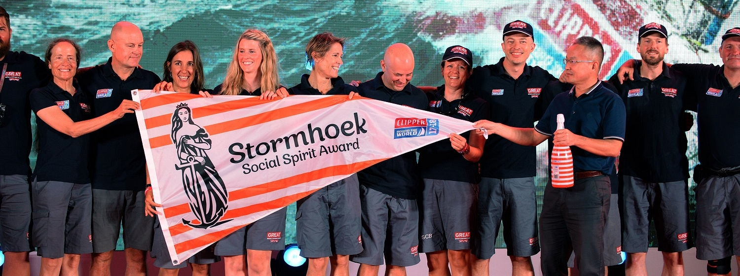 GREAT Britain at Race 8 Prize Giving with Stormhoek Social Spirit Award