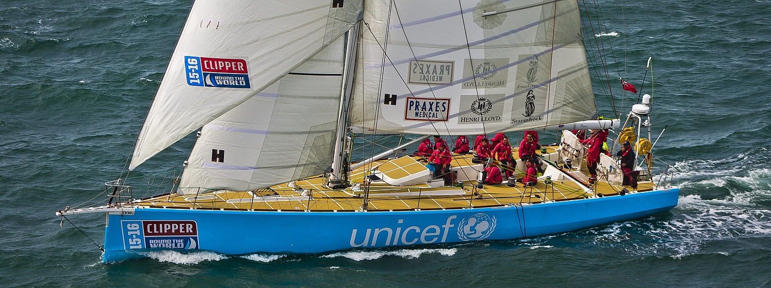 Clipper Race Unicef Yacht from 2015-16 edition