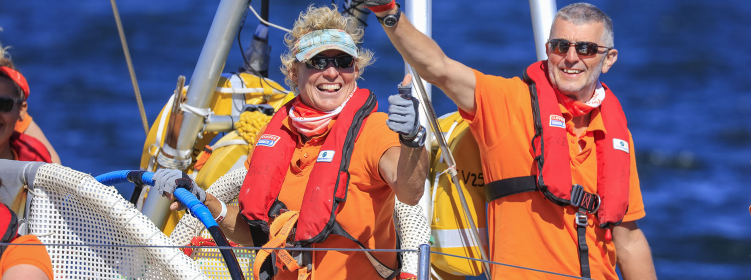 Clipper Race skipper Wendy Tuck during 2015-16 edition of the race.