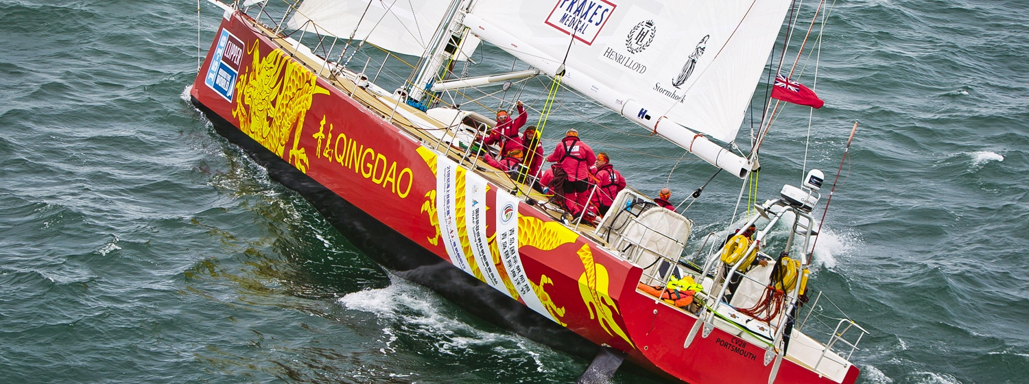 """""""Qingdao"""" during the Clipper 2015-16 Race"""
