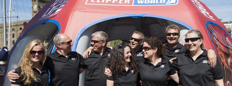 Clipper Race alumni crew arrive in London