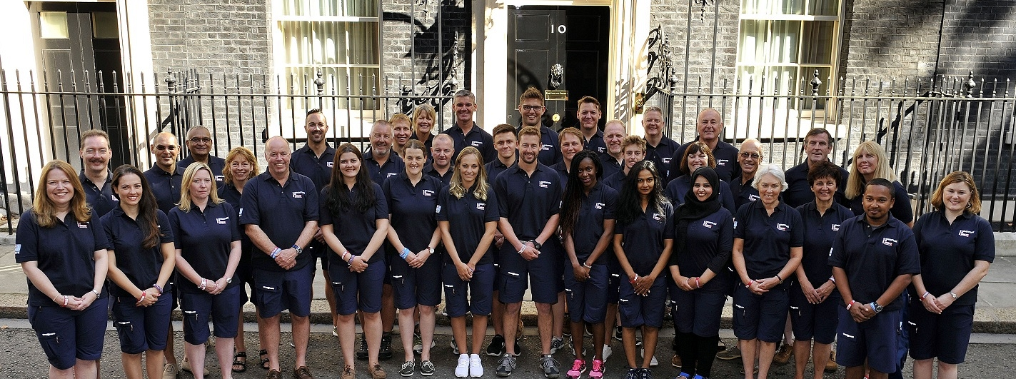 The GREAT Britain team pictured outside Downing Street