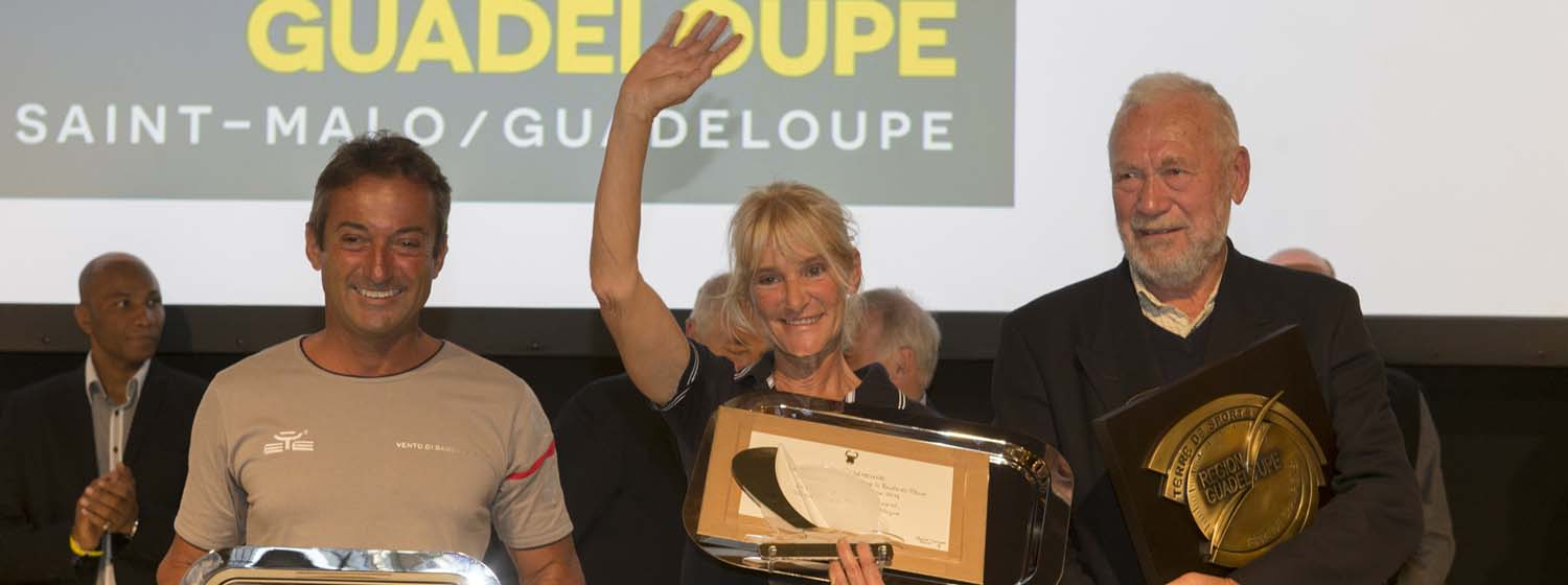 Sir Robin Knox-Johnston receives Route du Rhum prize