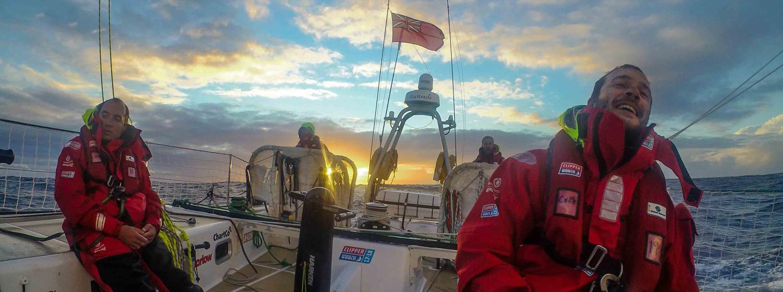 Action on board Greenings