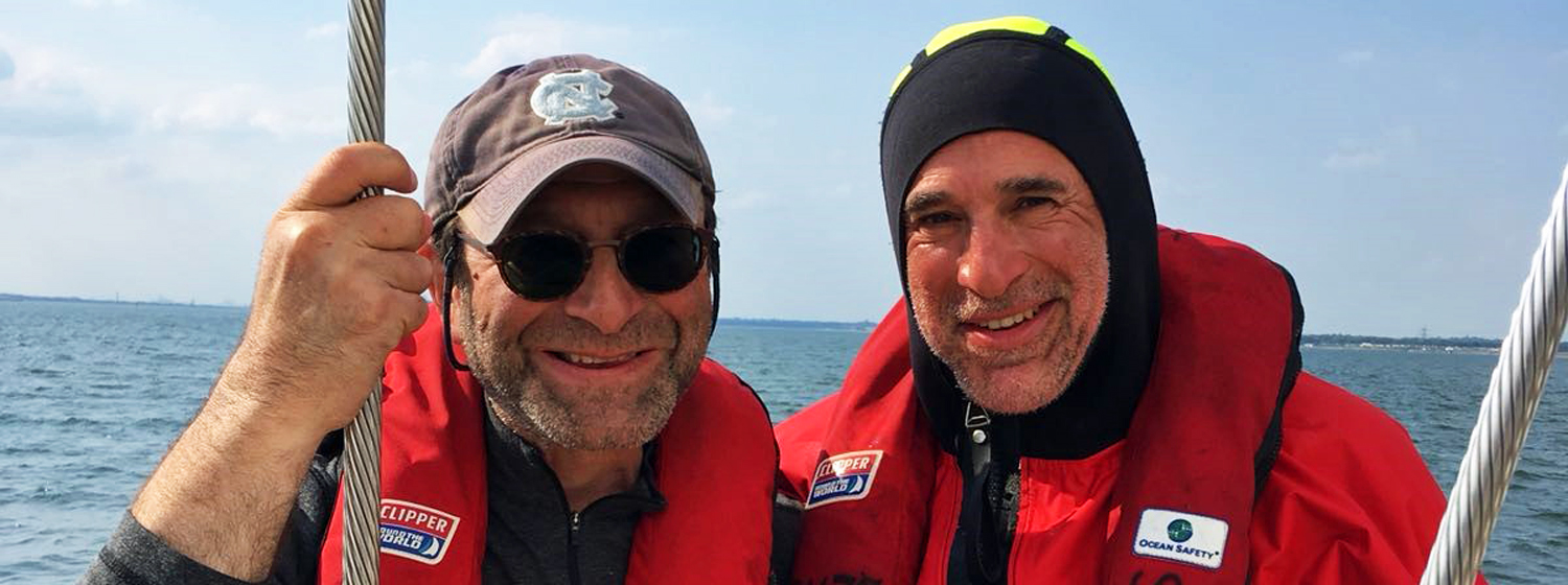 Michael Richman and David Laufer during their Level 1 Clipper Race Training