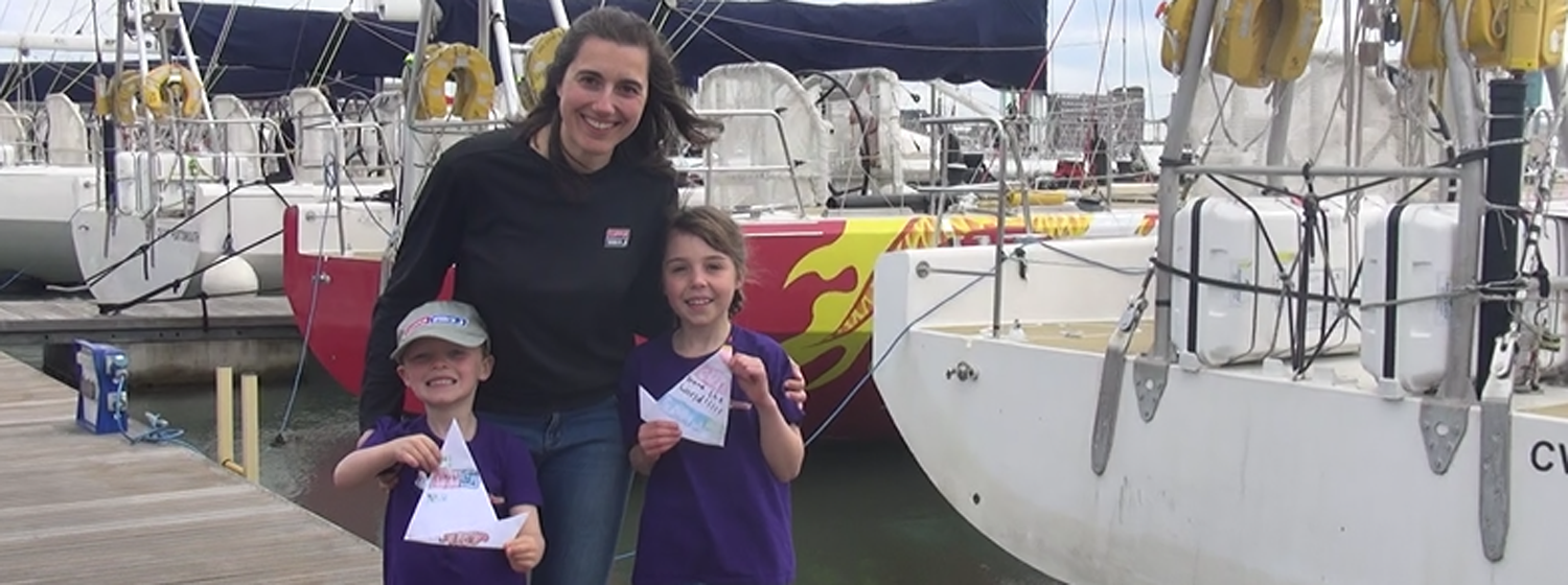 Race Crew Supporters Coordinator Ruth Charles with her Junior Crew Supporters