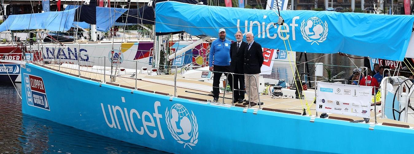 The Unicef team yacht