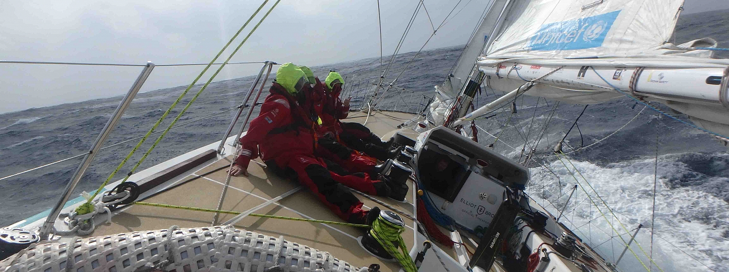 Race 8 Day 12 Icy conditions as remaining teams beat upwind to Qingdao Race Finish