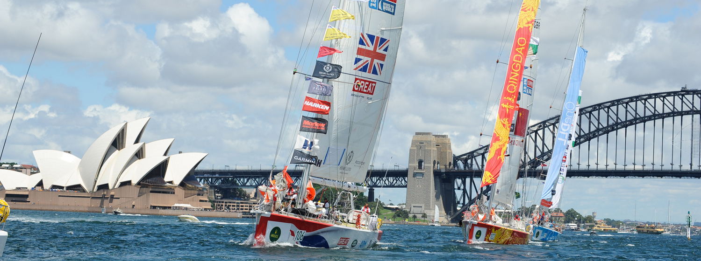 Clipper 2015-16 Race on Sydney Harbour, Australia